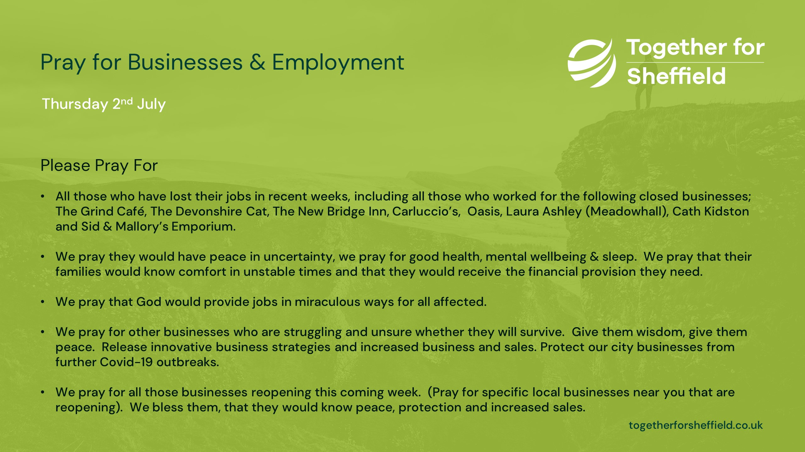 1st July - Business & Employment